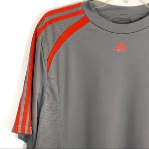 adidas Shirts - Adidas gray orange climacool Workout short sleeve